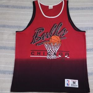 MITCHELL & NESS Chicago Bulls Gradient Red Tank